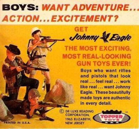 Johnny Eagle Children's Arsenal toy gun advertising