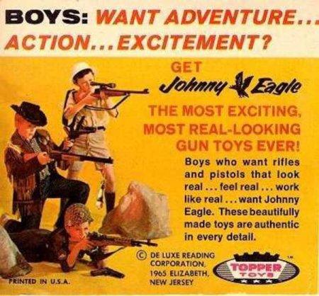 Johnny Eagle Children's Arsenal toy gun advertising