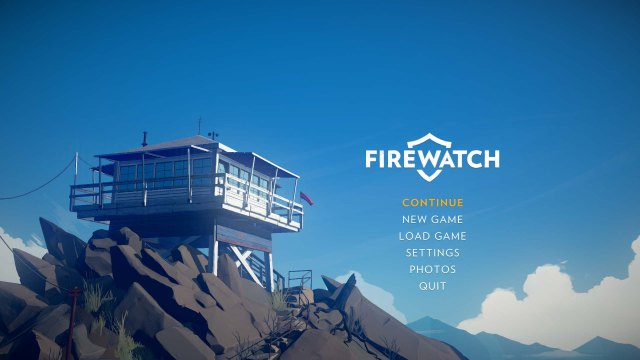 Firewatch main menu