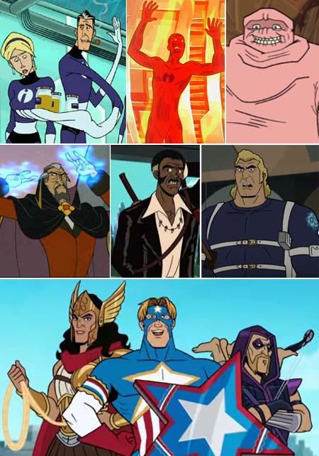 venture bros homages superheroes