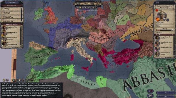 Crusader Kings II Europe 769AD Imperio Bizantino