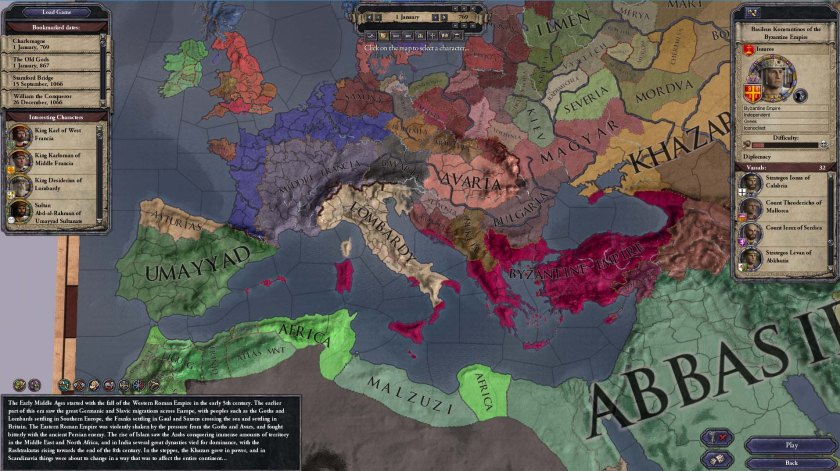 Crusader Kings II Europe 769AD Imperio Bizantino