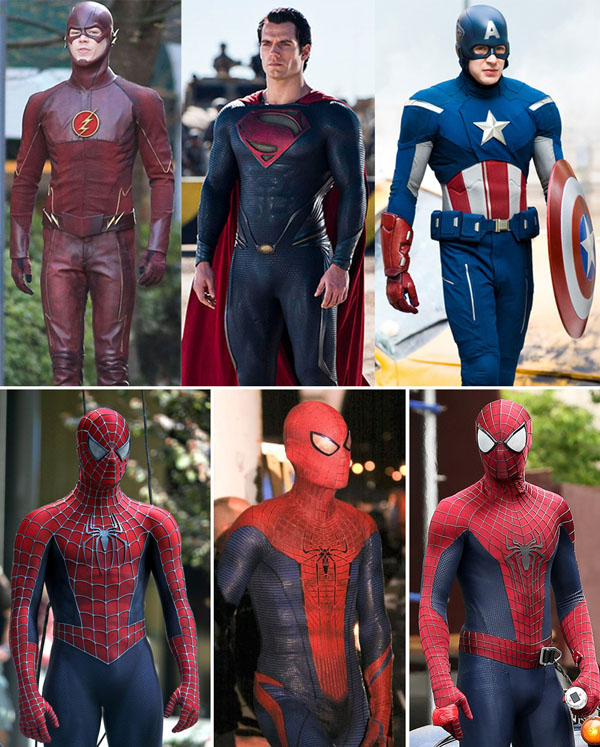 flash-gustin-superman-man-off-steel-captain-america-avengers-costumes-spiderman-maguire-gardfield