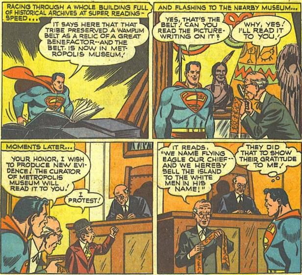 Action Comics 148 Superman estafando a los indios