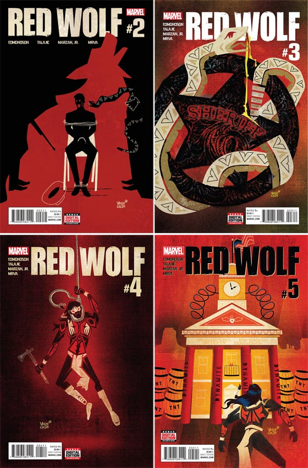 red-wolf-marvel-jeffrey-Veregge- covers-art