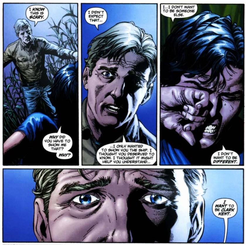 Superman Secret Identity Geoff Johns Gary Frank I want to be Clark Kent