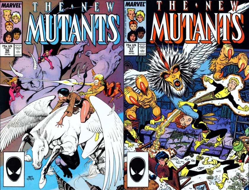 New Mutants 56 & 57 Bird Brain