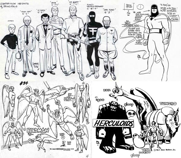 alex toth hanna barbera designs (1)