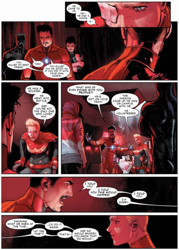 Civil War II 1 conflicto tony vs carol 2