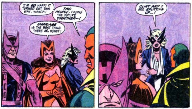 Vision Scarlet Witch Mowkingbird Hawkeye epilogue splitting up