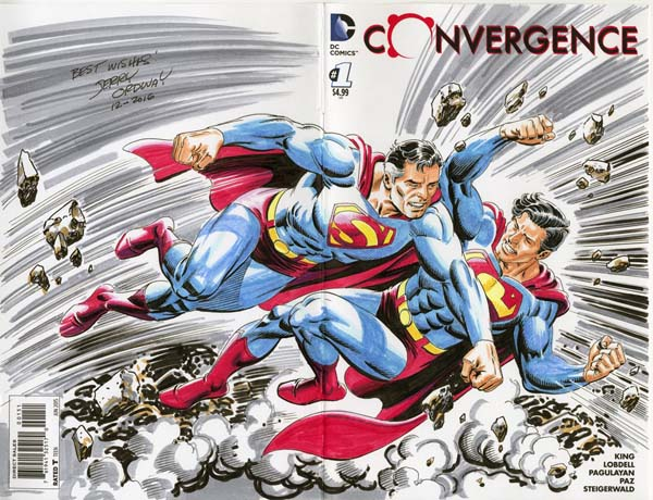 jerry-ordway-comission-convergence-superman-earth1-vs-superman-earth2-dc-comics