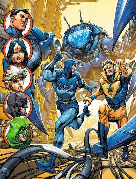 JL3000-12-december-cover-howard-porter-blue-beetle-booster-gold